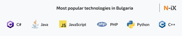 Most popular technologies among Bulgarian developers