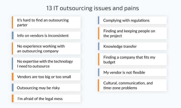 13 problems of outsourcing
