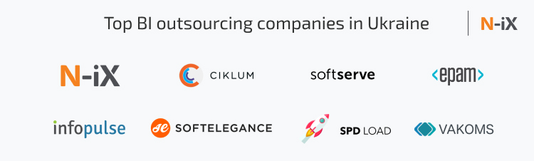 BI outsourcing companies that can help with business intelligence outsourcing and bi application development