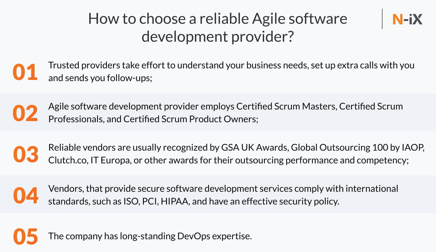 How to choose an Agile software development provider?