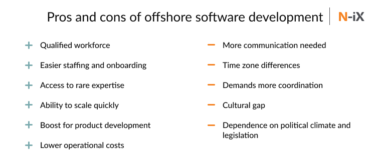 pros and cons of offshore software development