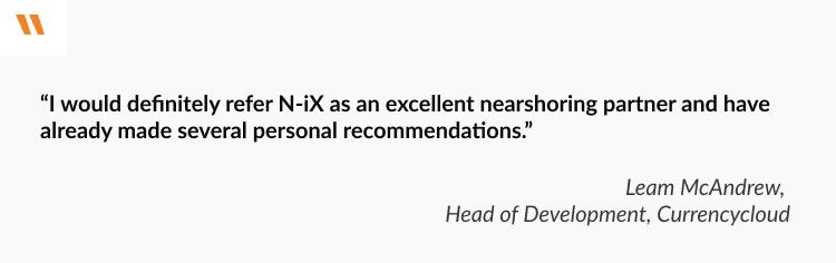 nearshore software development in Ukraine: N-iX
