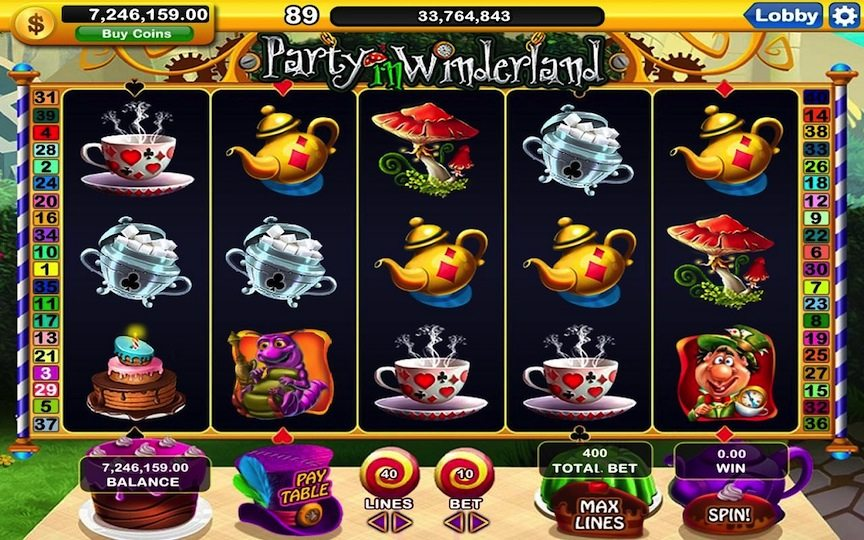 Slotomania game by mobile and computer game company Playtika