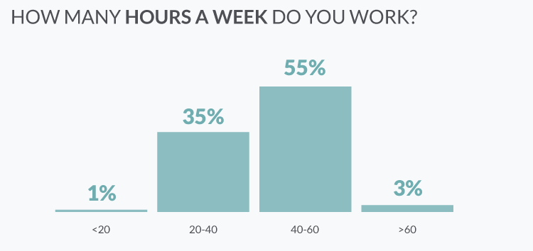 How many hours a week do the Ukrainian it specialists work?