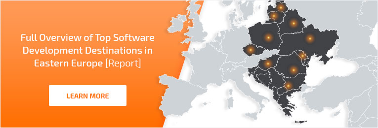 IT outsourcing destinations in Eastern Europe