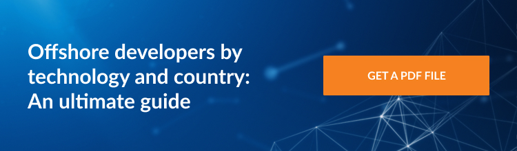 Offshore JavaScript, Python, PHP, Java, and .NET developers in Eastern Europe, Asia, and South America. Offshore embedded software developers, Big Data and DevOps experts in Eastern Europe, Asia, and South America.