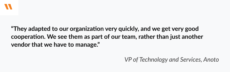 client review from the company that worked with embedded software developers from N-iX