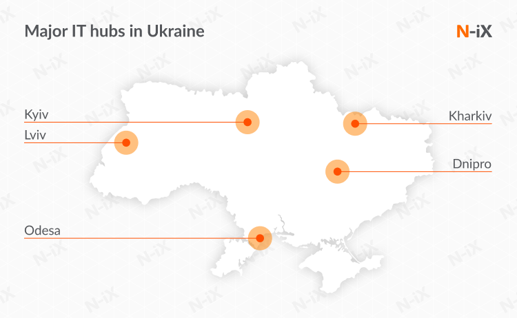 Locations to look for a dedicated development team in Ukraine