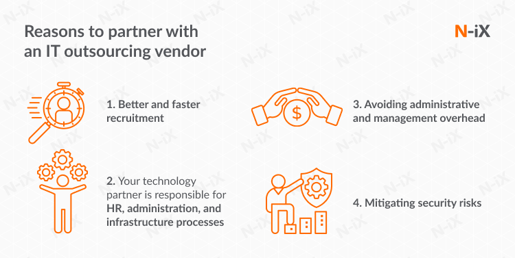 reasons to partner with an IT outsourcing vendor to set up an offshore development center