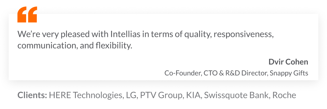 Intellias clients and the testimonial