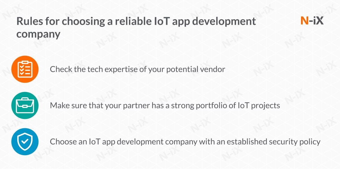 Choose the best IoT app development companies with these rules