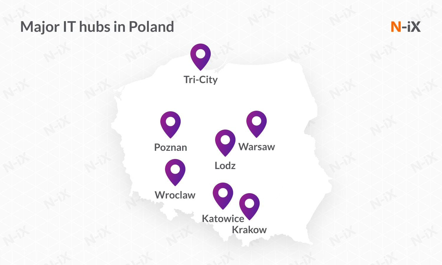 software developers for hire in Poland: major hubs
