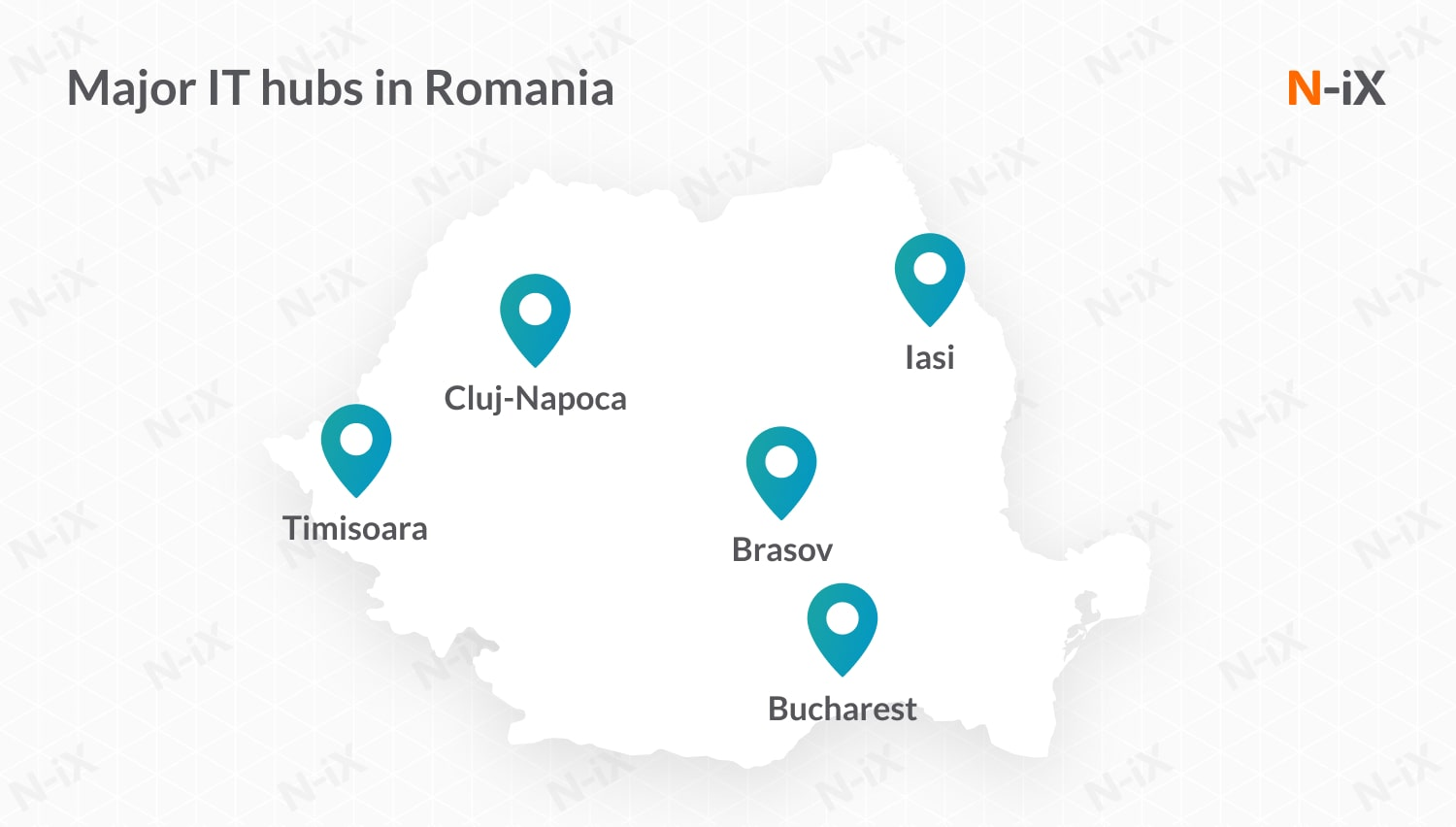 software developers for hire in Romania: major hubs