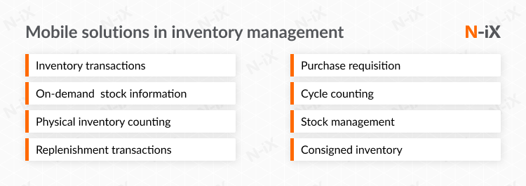 inventory management software development: enterprise mobility