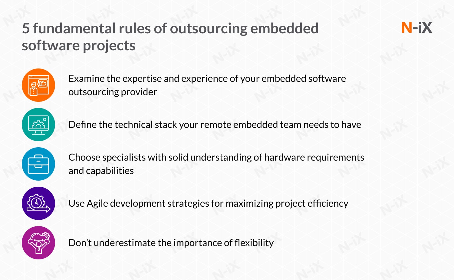 embedded software development outsourcing: key rules