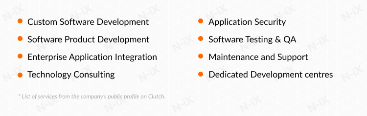 itransition services list