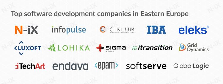 Top software development companies in Eastern Europe
